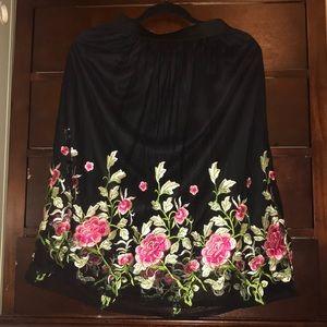 Floral Print Midi Skirt — Charlotte Russe
